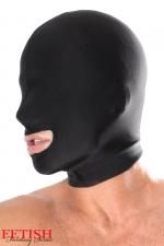 Cagoule spandex bouche ouverte : Privé de ses principaux sens, concentrez son attention sur sa bouche...